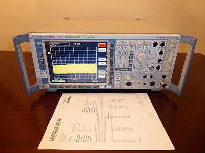 Rohde Schwarz Fsq8 20hz - 8 Ghz Spectrum Signal Vector Analyzer W Opt K70