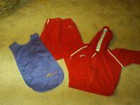 Rainbow uniform trousers hoody both medium and purple apron tabard