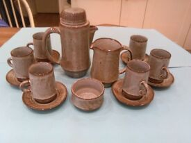 Creigiau coffee set hand thrown in 1967