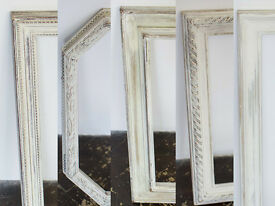 Assorted hand painted Shabby Chiq decorative wooden picture / photo frames