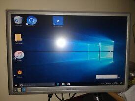 "22"" adjustable monitor screen"