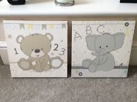 Mothercare Teddy's Toy box canvas pictures