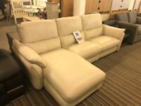 Corner leather electric recliner sofa RRP 2800