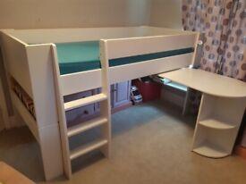 Steens midsleeper bed frame and desk