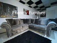 Luxury grey corner sofa