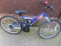 boys 24inch wheeled mountain bike suit age upto 10yrs old £25.00