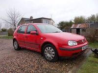 2001 VOLKSWAGEN GOLF DIESEL 5 DOOR MOTD NOVEMBER