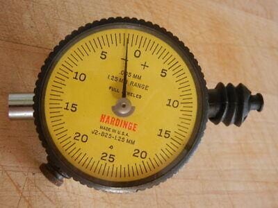 Hardinge Dial Indicator Gauge J2-b25-1.25mm .005mm Vintage Used