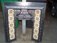 Fireplace - Victorian Cast Iron Tiled Insert