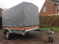 750 Kg Non-braked Single Axle Car Trailer With Canopy. Make Me An Offer.
