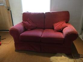 Two seater sofa red