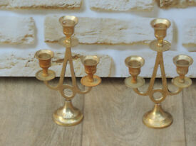 Brass Candle Holders Pair (Delivery)