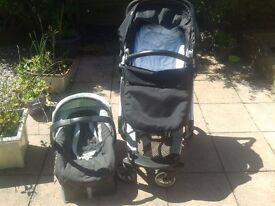 Mamas & Papas Peg-Perego Skate Travel System, Pram, Push chair, Carrycot and Car Seat