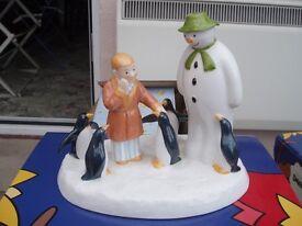 Coalport Snowmen Figure - The Snowman Collection - Penguin Pals