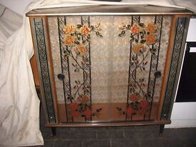 Vintage Retro 1960's Glass Cabinet