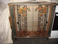 Vintage Retro 1960's Glass Cabinet