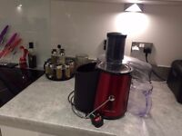 Andrew James Professional Whole Fruit Power Juicer In Stunning Red