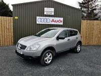 2009 NISSAN QASHQAI VISIA, 1.6 PETROL, LOW MILEAGE, FULL SERVICE HISTORY, TWO KEYS, JUST SERVICED