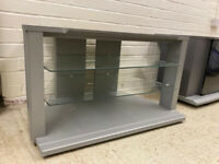 TV stand / cabinet - silver/glass - very good condition