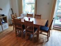 Faux Wood Dining Table - Extending leaf - £85 ONO