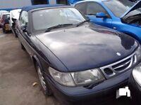BREAKING --- Saab 9-3 SE Turbo Convertible 2L Petrol 154BHP -------- 1999