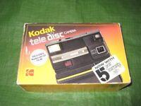 Vintage Kodak Tele Disc Camera in its Original Box - Made in 1985