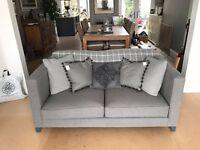 Wool Grey Contemporary Sofa Set