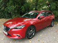 2016 Mazda 6 Tourer Sport Nav Diesel, 6 Gear Automatic, 175bhp 1 owner