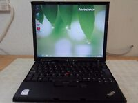 "Lenovo Thinkpad X61s 12.5"" WiFi enabled Intel Core 2 Duo 1.6Ghz 2GB RAM 80Gb HDD Win 7 2Hour Battery"