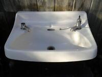 Antique Victorian wall mounted sink Royal Vinton VGC no marks