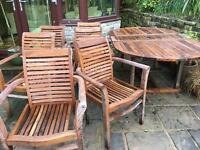 Table and 6 carver chairs