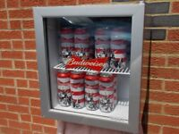 (budwieser) Mini fridge. New Never used.