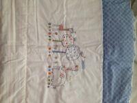 Hello Ernest Cot quilt, bumper, Sheet & fleece