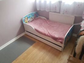 Pony single bed with mattress