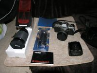 Olympus Vintage SLR Camera Bundle OM10 Loads Of Stuff