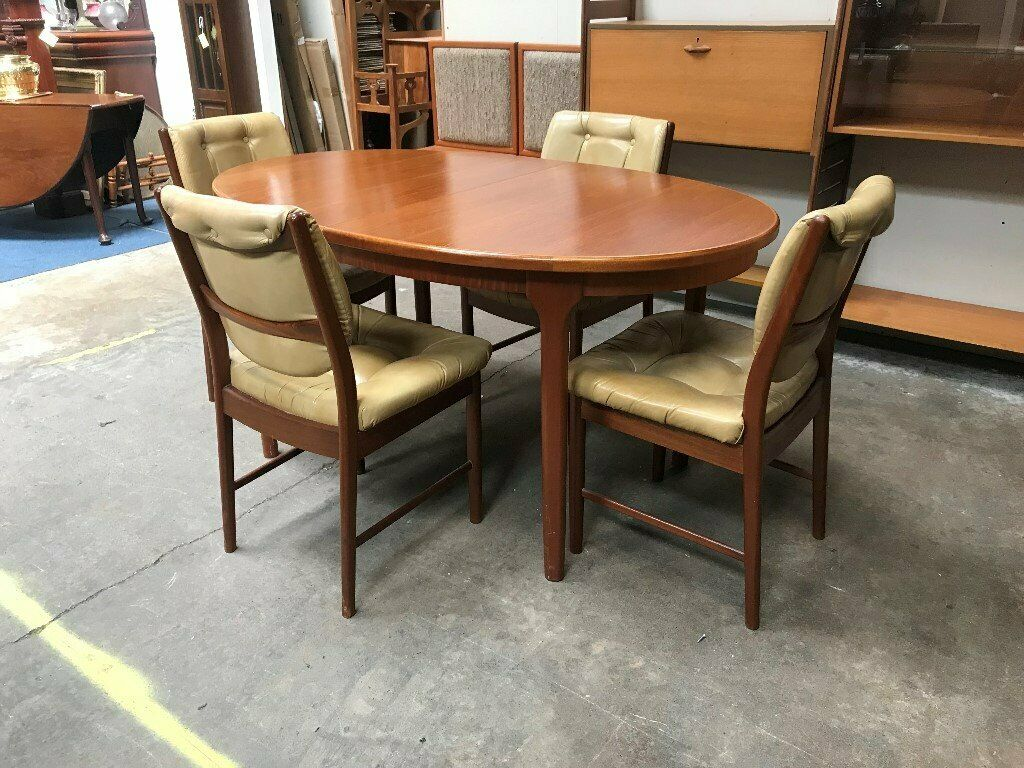 Extending Teak Dining Table 4 Chairs By Mcintosh Of Kirkcaldy Retro Vintage Mid Century In Southside Glasgow Gumtree