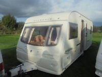 2005 avondale argente 555/4 berth fixed bed with motor mover & awning plus more