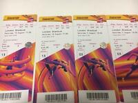 Ticket swap World athletics for u2