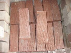 38 RED RIPPLE FACING BRICKS