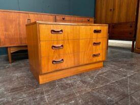Fresco Range Chest of Drawers / TV Cabinet by G Plan. Retro Vintage Mid Century 1960s