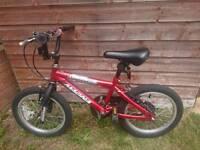 """Boys bike 16"""" wheels age 4 - 7 years"""