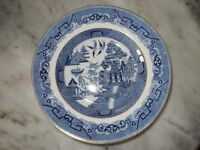 ANTIQUE WILLOW PATTERN BOWLS (x THREE) - OVER 100 YEARS OLD