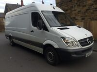 Mercedes sprinter van 2010 60 plate 313 cdi lwb high roof 2 owners Cruise control no vat £3750