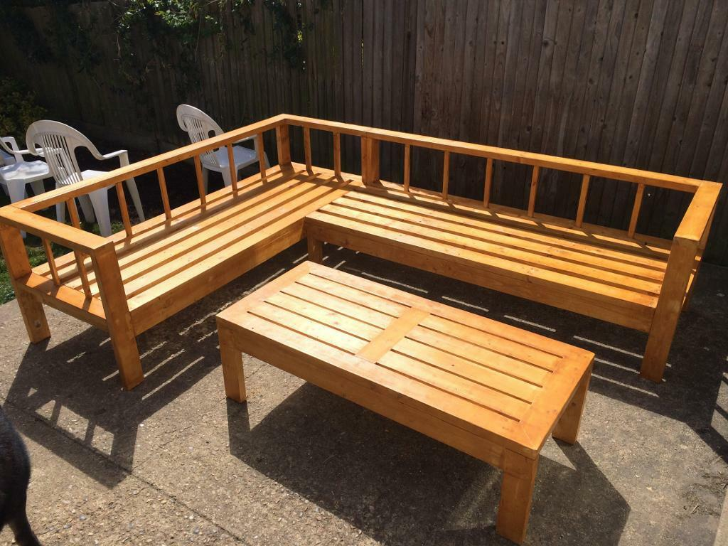 Garden Furniture Handmade handmade outdoor/garden sofa set | in ruislip, london | gumtree