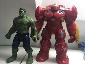 Iron man and hulk toys