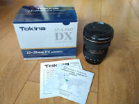 Tokina AT-X 12-28mm f/4 Pro DX Lens Nikon fit with Hoya Fusion Protector Filter