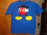 Mickey Mouse T Shirt - Size 5/6 yrs. Worn twice.