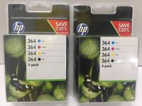 50 X HP 364 4-pack Black/Cyan/Magenta/Yellow Original Ink Cartridges (N9J73AE)