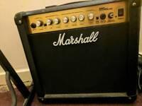 Marshall mg15cdr amp plus stand and tab books