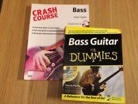 Bass Guitar for Dummies and Crash Course for Bass Guitar books